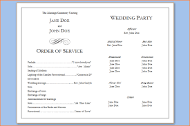 6 wedding programs templates outline templates