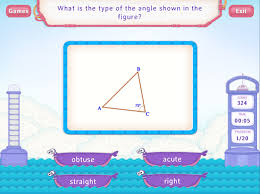 types of angles worksheet games fourth grade math