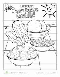 food coloring page fruit worksheets