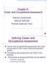 psy 2201 ch 8 career assmt test assessment educational