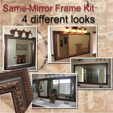bathroom mirror frame kit 31 enchanting ideas with how to frame a