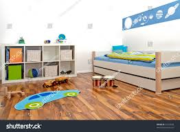 childrens playroom bed rack some toys stock photo 77331028