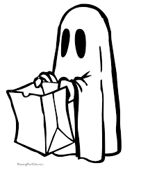 halloween ghost coloring pages 001