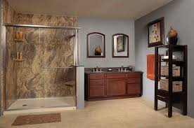 wall surrounds shower enclosures rebath of houston solid surface
