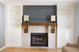 Fireplace Mantels With Bookcases Diy Sunburst Mirror U0026 Bookcase Built Ins The Lettered Cottage