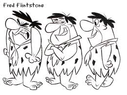 fred flintstone color coloring pages printables