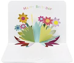 form 3d card birthday flowers aa2164 3 95 creased cards