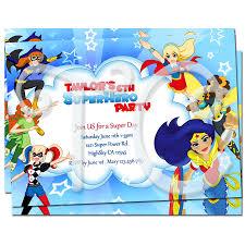 Superhero Invitation Card Superhero Favor Bags 10 Superhero Goody Bags Superhero