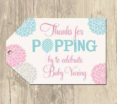 Baby Shower Favor Messages - she u0027s going to pop baby shower in pink and orange babies she s