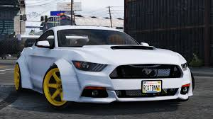widebody cars forza horizon 3 ford mustang gt rocketb u0026 wide body gta5 mods com