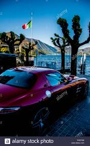 maserati bellagio bellagio town on lake como italy a maserati sports car stock