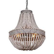 bead chandelier anmytek metal and circular wood bead chandelier pendant three