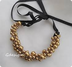 glass pearl necklace images Beach wedding ivory gold color glass pearl necklace chic jpg