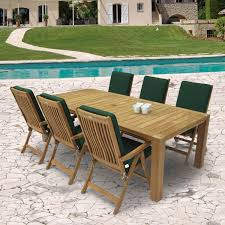 6 Person Patio Dining Set - royal teak collection estate 6 person teak dining set w 96 inch