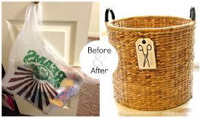 leather stair basket leather stair step basket large felt storage
