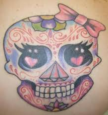 makems girly sugar skull graphic tattoomagz