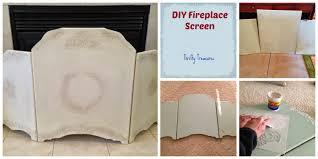 thrifty treasures fireplace screen diy