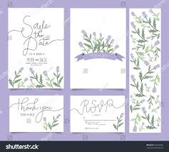 Wedding Invitation Card Templates Wedding Invitation Card Template Set Text Stock Vector 696350989