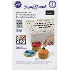 edible numbers sugar sheets alphabet edible decorating paper wilton