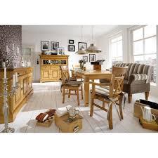 Esszimmergarnitur Fichte Landhaus Tisch Esstisch Goldbraun Patiniert 140x95 Göteborg