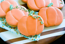 decorated cookies spiced pumpkin cut out cookies the pioneer woman