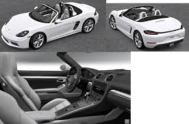 porsche black interior white boxster with two tone black crayon interior porsche 718 forum