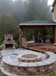 Outdoor Fireplace Caps by Outdoor Fireplace With Pizza Oven And Fire Pit Traditional