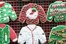 ugly sweater cookie holiday party