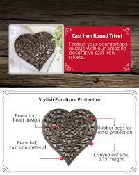 Decorative Metal Trivets Amazon Com Cast Iron Heart Trivet Decorative Cast Iron Trivet