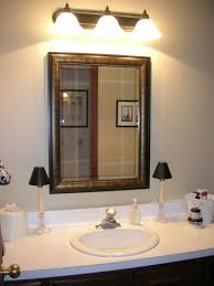 Lighting Tips by Updated Bathroom Light With Sconces Over Mirror For White Double