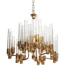 Rewiring A Chandelier by Mid Century 9 Arm Brass And Glass Tube Chandelier By Hans Agne