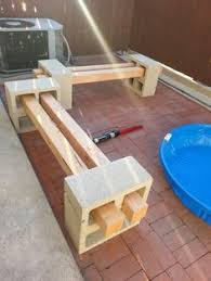 how to make a cinder block bench cinder block bench bench and