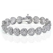 free set bracelet images Shop db designs 1ct tdw diamond miracle set heart tennis bracelet jpg