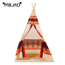 children indian toy teepee play tent portable playhouse diy