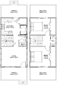Beach House Plans Small 16x30 1 Bedroom House 16x30h1 480 Sq Ft Excellent Floor