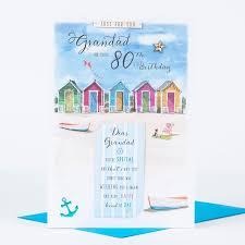 80th birthday card special beach grandad only 1 29