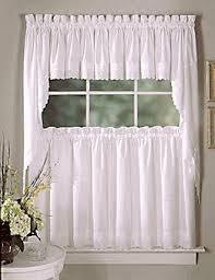 Lorraine Curtains Kitchen Tier Curtains Ribbon Eyelet Kitchen Curtains By