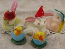chenille easter vintage japan easter decorations spun cotton and chenille