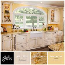 we love this french country kitchen color palette with warm tones
