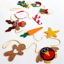 handmade felt and ribbon christmas bunting by be good darcey
