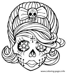 coloring pages of skulls sugar skull coloring pages coloring
