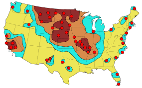 Usa Time Zone Map by Ragweed Pollen Map Weathercom Gmna Resources Usgs Engenia