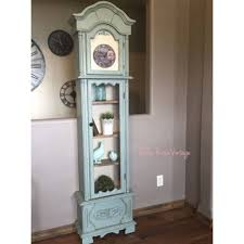 Emperor Grandfather Clock Refinished Annie Sloan Duck Egg Grandfather Clock Into Shabby Chic