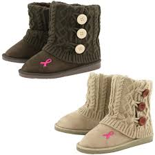 ugg boots veterans day sale pink ribbon mid rise knit boots the rescue site