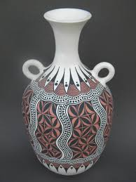 two tribes pottery art work handbuilt handcoiled and hand