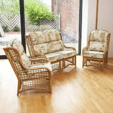 Sofas For Conservatory Bali Cane And Square Lattice Conservatory Set With Cushions Alfresia