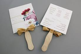 fan wedding program kits wedding program kits with ribbon wedding ceremony programs