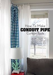 Curtain Rod For 12 Foot Window Diy Decor Project How To Make Conduit Pipe Curtain Rods