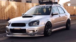 subaru wagon ryan st germain u0027s slammed 04 subaru wrx wagon youtube