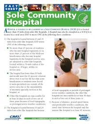 medicare reference guide for sole community hospitals california